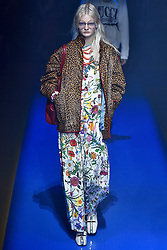 Model Unia Pakhomova walks on the runway during the Gucci Fashion Show during Milan Fashion Week Spring Summer 2018 held in Milan, Italy on September 20, 2017. (Photo by Jonas Gustavsson/Sipa USA)