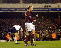 Photo: Leigh Quinnell.<br /> Arsenal v Portsmouth. The Barclays Premiership.<br /> 28/12/2005. Dennis Bergkamp celebrates his goal for Arsenal.