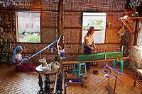 Myanmar (ex Birmanie), Province de Shan, Lac Inle, Femme girafe, femme d'ethnie Padung // Myanmar (Burma), Shan province, Inle lake, Giraffe woman, Padung ethnic group