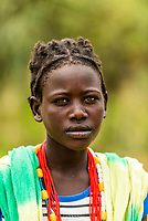 Konso tribe girl, Omo Valley,  Southern Nations Nationalities and People's Region, Ethiopia.
