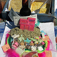 South America, Bolivia, La Paz. Potion for Good Fortune and Wealth at the Witch Doctor's Market of La Paz.