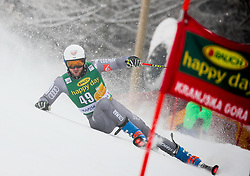 Thibaut Favrot of France competes during 1st run of Men's GiantSlalom race of FIS Alpine Ski World Cup 57th Vitranc Cup 2018, on March 3, 2018 in Kranjska Gora, Slovenia. Photo by Ziga Zupan / Sportida