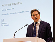 London, United Kingdom - 12 September 2019<br /> Johnny Mercer MP, Parliamentary Under-Secretary of State for Defence People and Veterans for the UK Government gives a keynote address speech and answers questions from the audience at DSEI 2019 security, defence and arms fair at ExCeL London exhibition centre.<br /> (photo by: EQUINOXFEATURES.COM)<br /> Picture Data:<br /> Photographer: Equinox Features<br /> Copyright: ©2019 Equinox Licensing Ltd. +443700 780000<br /> Contact: Equinox Features<br /> Date Taken: 20190912<br /> Time Taken: 10051100<br /> www.newspics.com