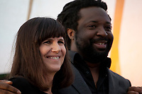 Catherine Mayer and Novelist Marlon James during the 'New World Order' talk at the Dalkey Book Festival, Dalkey, County Dublin, Ireland, Thursday 15th June 2017. Photo credit: Doreen Kennedy