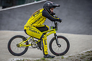 #212 (PETERSONE Vineta) LAT at Round 6 of the 2018 UCI BMX Superscross World Cup in Zolder, Belgium