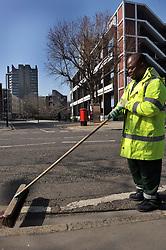 Road sweeper, Islington, London