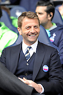 Tottenham Hotspur Manager Tim Sherwood smiling before k/o. Barclays premier league match ,Tottenham Hotspur v Fulham at White Hart Lane in Tottenham, London  on Saturday 19th April 2014.<br /> pic by John Patrick Fletcher, Andrew Orchard sports photography.