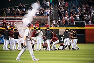 PHOENIX, AZ - SEPTEMBER 29: The D-backs defeat the Padres 1-0. (Photo by Sarah Sachs/Arizona Diamondbacks)