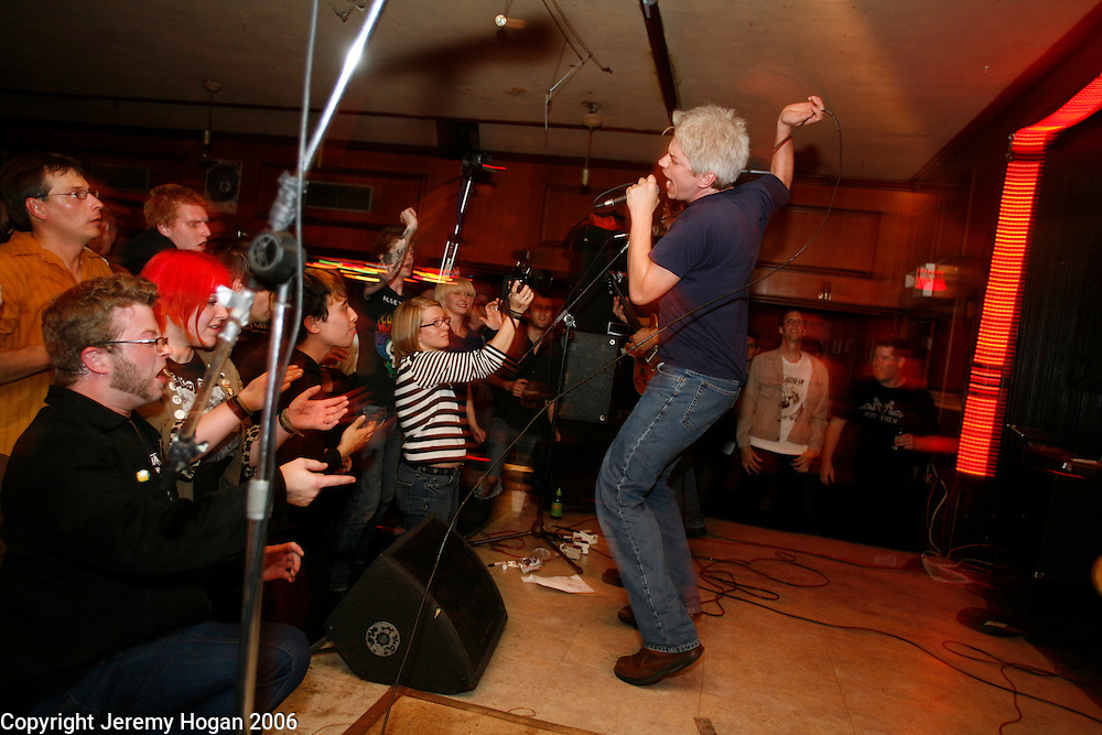 Paul Mahern and the Zero Boys perform during the 25th Anniversary of Second Story Nightclub in Bloomington, Indiana.