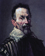 Detail from painting of composer Claudio Monteverdi (1567-1643). Circa 1620 by Domenico Fetti.