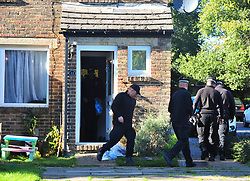 © Licensed to London News Pictures. 19/10/2018<br /> New Ash Green, UK. Police search the home of missing mother Sarah Wellgreen in New Ash Green, Kent. The mother of five from has not been seen since the evening of Tuesday October 9th. A man in his 30s who was arrested on Tuesday in connection with the disappearance has been bailed by police. Photo credit: Grant Falvey/LNP