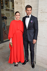 May 20, 2019 - New York, NY, USA - May 20, 2019  New York City..Olivia Palermo and Johannes Huebl attending arrivals to the American Ballet Theater  Spring Gala at the Metropolitan Opera House in Lincoln Center on May 20, 2019 in New York City. (Credit Image: © Kristin Callahan/Ace Pictures via ZUMA Press)