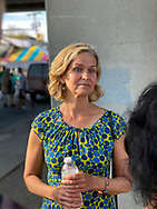 Bellmore, New York, U.S.  September 25, 2021.  Nassau County Executive LAURA CURRAN visits the 34th Annual Bellmore Family Street Festival.