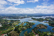 Guatape, Antioquia Department, Colombia. Manmade lake created for hydro-electricity