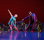 Mark Morris Dance Group's <br /> Pepperland <br /> Choreography by Mark Morris <br /> at Sadler's Wells,  London, Great Britain <br /> 20th March 2019 <br /> Rehearsal <br /> <br /> Mica Bernas, <br /> Sam Black, <br /> Domingo Estrada, Jr., <br /> Nicole Sabella <br /> Brandon Randolph <br /> John Eirich <br /> Lesley Garrison <br /> Lauren Grant <br /> Sarah Haarmann <br /> Deepa Liegel <br /> <br /> <br /> Photograph by Elliott From Franks