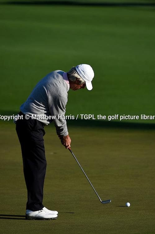 Ben CRENSHAW (USA) putting at 2nd par 5 during first round US Masters 2014,Augusta National,Augusta, Georgia,USA.