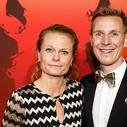 NLD/Amsterdam/20151215 - NOC / NSF Sportgala 2015, Jochem Uytdehaage en partner Danielle Mouissie