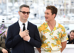 Nicolas Winding Refn and Miles Teller attending the Too Old To Die Young - North of Hollywood, West of Hell  Photocall during the 72nd Cannes Film Festival, Festival des Palais. Photo credit should read: Doug Peters/EMPICS