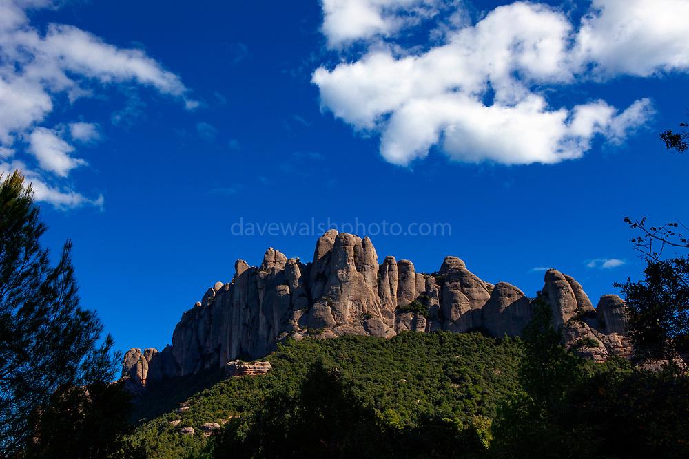 The mountain of Montserrat, near Barcelona, Catalonia, Spain