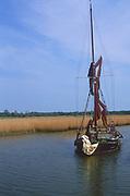 AREJW3 Sailing barge Cygnet River Alde Snape Suffolk England