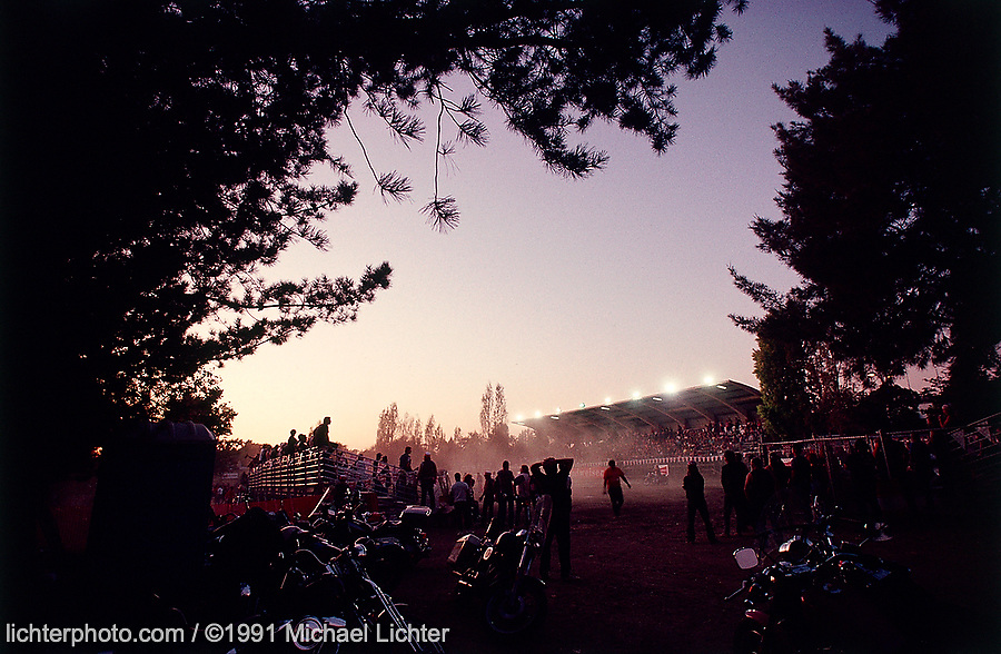 Rodeo Sunset,National Finals, Vallejo, CA. 1991<br /> <br /> Limited Edition Print from an edition of 20. Photo ©1991 Michael Lichter