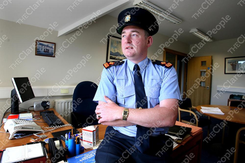 Superintendent Gabriel O'Gara at Ennistymon Garda Station.<br /><br />Photograph by Eamon Ward