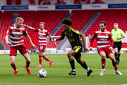 Zain Walker of Bristol Rovers takes on Brad Halliday of Doncaster Rovers - Mandatory by-line: Robbie Stephenson/JMP - 26/09/2020 - FOOTBALL - The Keepmoat Stadium - Doncaster, England - Doncaster Rovers v Bristol Rovers - Sky Bet League One