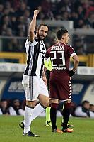 Gonzalo Higuain Juventus esultanza gol, Gonzalo Higuain Goal celebration <br /> Torino 11-12-2016 Stadio Olimpico Grande Torino <br /> Fotball Calcio Serie A 2016/2017 Torino - Juventus  <br /> Foto Massimo Pinca Insidefoto