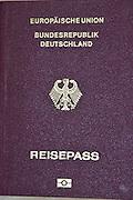 German passport cutout
