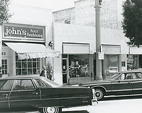 1977 John's Hair Fashions & other shops on Larchmont Blvd.