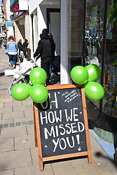 As England eases out of Coronavirus lockdown no 3, non-essential shops reopen on 12 April 2021, Scribbler store, Norwich UK