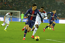 January 19, 2019 - Paris, Ile de France, France - Paris SG Striker EDINSON CAVANI in action during the French championship League 1 Conforama match Paris SG against EA Guingamp at the Parc des Princes Stadium in Paris - France..Paris SG won 9-0 (Credit Image: © Pierre Stevenin/ZUMA Wire)
