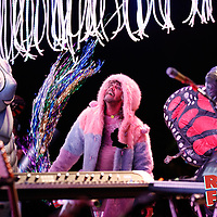 Wayne Coyne of The Flaming Lips performing at Riot Fest 2016 in Chicago.