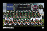 2001 Miami Hurricanes Baseball Team Photo