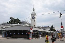 June 16, 2018 - Sochi, Rússia - SOCHI, SC - 16.06.2018: GENERAL PHOTOS SOCHI 2018 - Railway station of Sochi center in Russia. (Credit Image: © Ricardo Moreira/Fotoarena via ZUMA Press)
