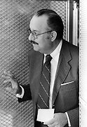 """Nicaraguan President Anastasio """"Tachito"""" Somoza Debayle, in exile in Miami, Florida. Somoza was assassinated in<br /> Asunción, Paraguay on September 17, 1980 after resigning as president and fleeing to first the USA and then Paraguay."""