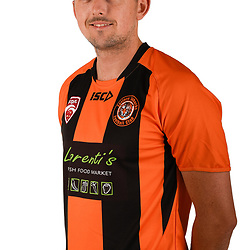 BRISBANE, AUSTRALIA - FEBRUARY 6: Scot Coulson poses for a photo during the Eastern Suburbs FQPL Queensland Senior Men's headshot session on February 6, 2018 in Brisbane, Australia. (Photo by Eastern Suburbs FC / Patrick Kearney)