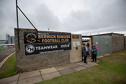 half time : Berwick Rangers 0 v 1 Cove Rangers, League Two Play-Off Second Leg played 18/5/2019 at Berwick Rangers Stadium Shielfield Park.