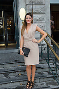 Jessica McClean, Dublin at the Hotel Meyrick Most Stylish Lady event on ladies day of The Galway Races. Photo:Andrew Downes
