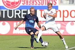 07.08.2016, Voith Arena, Heidenheim, GER, 2. FBL, 1. FC Heidenheim vs FC Erzgebirge Aue, 1. Runde, im Bild Arne Feick rechts Nicky Adler ( FC Erzgebirge Aue ) // during the 2nd German Bundesliga 1st round match between 1. FC Heidenheim and FC Erzgebirge Aue Voith Arena in Heidenheim, Germany on 2016/08/07. EXPA Pictures © 2016, PhotoCredit: EXPA/ Eibner-Pressefoto/ Langer<br /> <br /> *****ATTENTION - OUT of GER*****