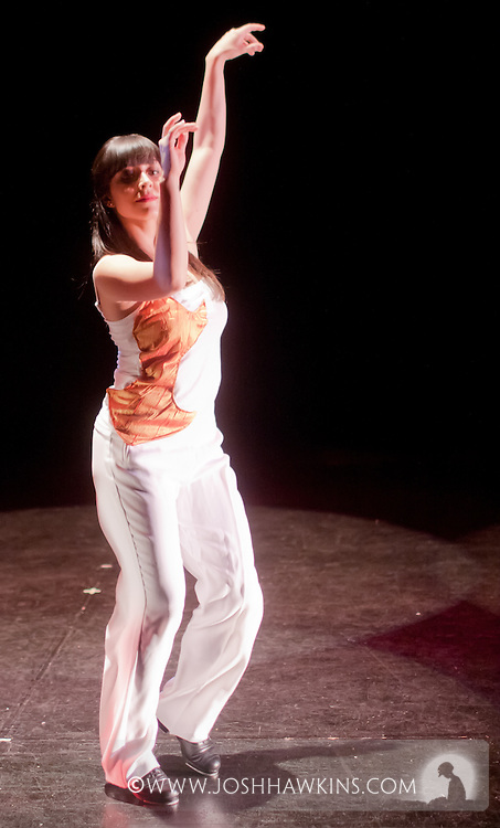 """Chicago Tap Theatre's """"Tidings of Tap"""" performed at UIC Theatre in Chicago, IL on Dec 9-11, 2011..Candlelight, choreography by Rich Ashworth, pictured dancer(s): Jamie Salas"""
