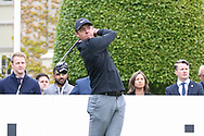 Rory Mcllroy tees off on the 1st hole during the Celebrity Pro-Am day at Wentworth Club, Virginia Water, United Kingdom on 23 May 2018. Picture by Phil Duncan.
