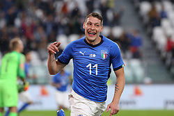 June 4, 2018 - Turin, Piedmont, Italy - Andrea Belotti (Italy) celebrates after scoring a goal, subsequently canceled by the referee, during the friendly football match between Italy and Holland at Allianz Stadium on June 04, 2018 in Turin, Italy. Final result: 1-1  (Credit Image: © Massimiliano Ferraro/NurPhoto via ZUMA Press)