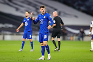 Chelsea midfielder Mason Mount (19) during the EFL Cup Fourth Round match between Tottenham Hotspur and Chelsea at Tottenham Hotspur Stadium, London, United Kingdom on 29 September 2020.