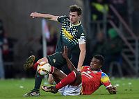 Fotball<br /> Tyskland<br /> 29.01.2016<br /> Foto: Witters/Digitalsport<br /> NORWAY ONLY<br /> <br /> v.l. Håvard Nordtveit, Jhon Cordoba (Mainz)<br /> <br /> Mainz, 29.01.2016, Fussball Bundesliga, FSV Mainz 05 - Borussia Mönchengladbach