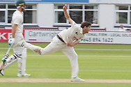 David Payne bowling during the Specsavers County Champ Div 2 match between Leicestershire County Cricket Club and Gloucestershire County Cricket Club at the Fischer County Ground, Grace Road, Leicester, United Kingdom on 18 June 2019.