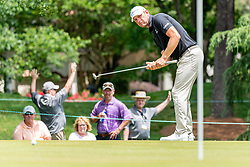 May 4, 2019 - Charlotte, NC, U.S. - CHARLOTTE, NC - MAY 04: Lucas Glover putts on the 3rd green during the third round of the Wells Fargo Championship at Quail Hollow on May 4, 2019 in Charlotte, NC. (Photo by William Howard/Icon Sportswire) (Credit Image: © William Howard/Icon SMI via ZUMA Press)