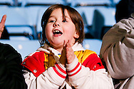 Young fan applauds the first goal during the EFL Sky Bet League 1 match between Scunthorpe United and AFC Wimbledon at Glanford Park, Scunthorpe, England on 28 February 2017. Photo by Simon Davies.