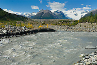 Kennecott River laden with glacial silt or flour, Wrangell-St. Elias National Park Alaska