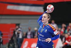 KOLDING, DENMARK - DECEMBER 5: Andreea Popa during the EHF Euro 2020 Group D match between Poland and Romania in Sydbank Arena, Kolding, Denmark on December 5, 2020. Photo Credit: Allan Jensen/EVENTMEDIA.